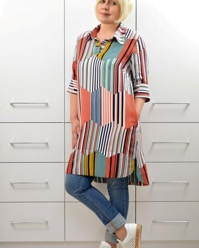 Блуза-рубашка Радуга 1642-2