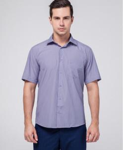 Брендовая мужская рубашка Rotelli фиолетовая модель