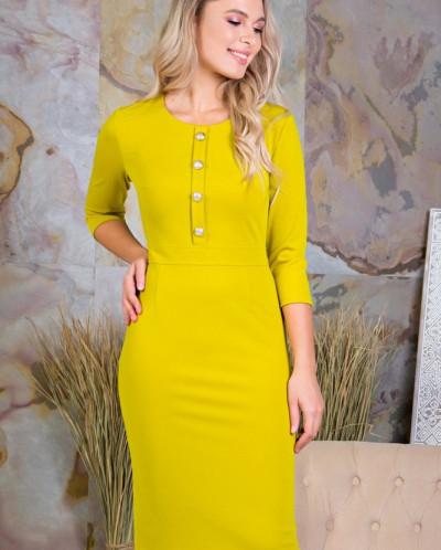 Платье Николь цвет горчица(П-104-3)