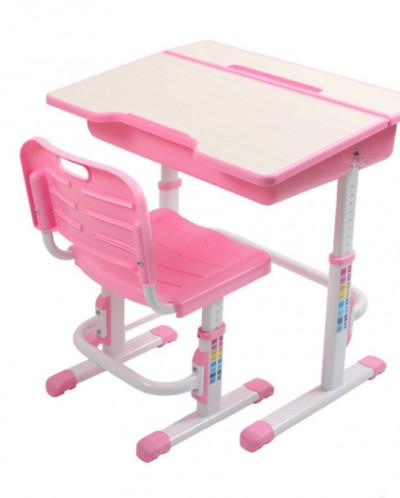 Комплект стол+стул трансформер EVOLIFE Study 2 розовый