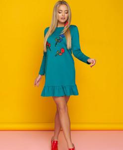 """Платье """"А-76"""" (зеленый)"""