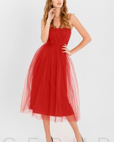 Пышное платье-бандо