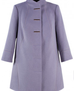 01-4872 Пальто женское демисезонное Кашемир Сирень