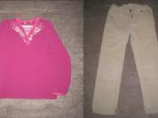 брюки и кофточка р.116