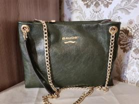 Новая кожаная сумка GaudeMilano Италия оригинал