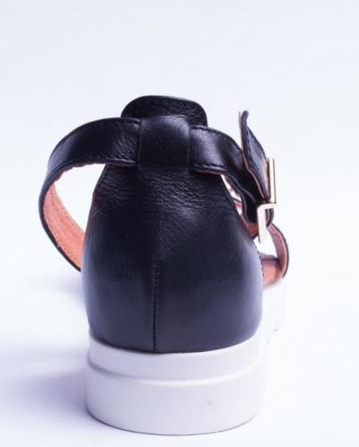 Босоножки из натуральной черной кожи, модель №227-3 19