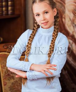 Трикотажная блузка  К*сюша голубая