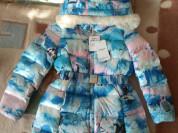 Новая зимняя курточка-пуховик для девочки