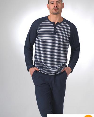 Мужской домашний костюм синего цвета Manam MU_9045 Синий 46