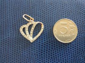 Золото подвеска 2,2 гр. 585 проба