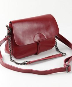 Женская кожаная сумка 966 Бордовый