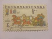 Марка 1Kcs Чехословакия 1977 год