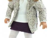 Кукла Сесилия, в серой куртке и вязаном берете, 60