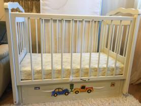 """кроватка детская механизм""""маятник"""" с выдвижным  шкафом"""