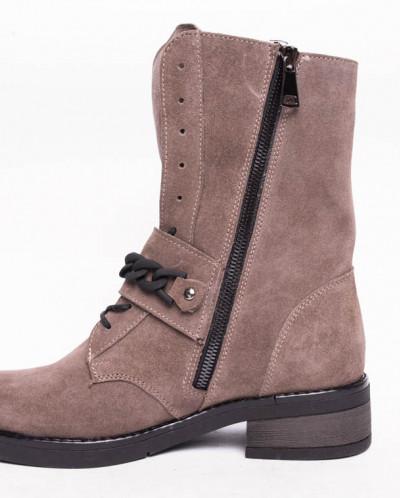 Ботинки №413-3 песочная замша (брук) 19