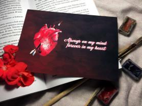 """открытка """"Ты навсегда в моем сердце"""""""