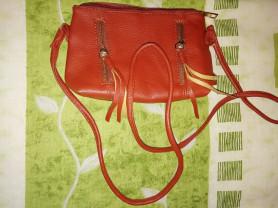 Новая сумочка Клатч, Рыжая с ремешком