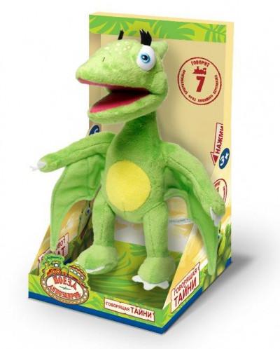 1toy Поезд Динозавров мягк.Тайни,18см,7 звуков,кор.try-me