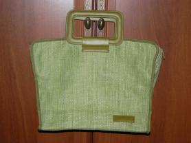 Сумка с квадратными ручками новая (AVON) зелёная