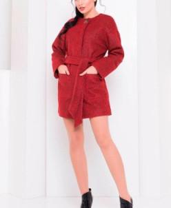 Пальто Даная 3324 (красно-черный) Modus