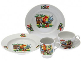 Детский Набор посуды 5 предметов Школа Дулево