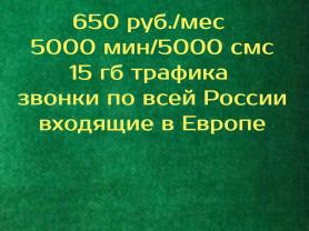 Безлимитные звонки по всей России на Ваш номер