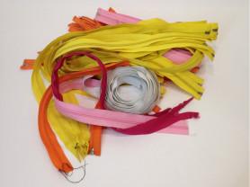 Набор разноцветных молний для шитья, новые