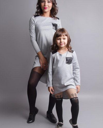 """Комплект платьев-туник Family Look для мамы и дочки """"Актив"""""""