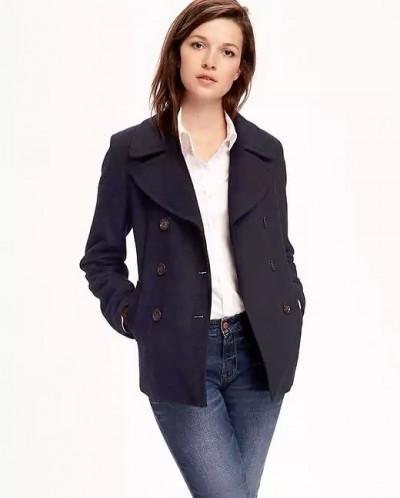 Wool-Blend Peacoat for Women
