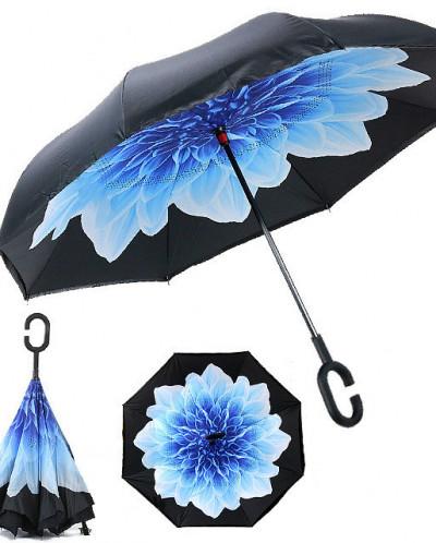 Зонт обратного сложения ветроустойчивый (рисунок)