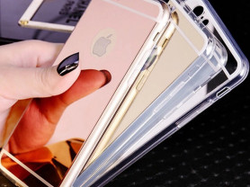 Зеркальный чехол на айфон 5,6,7