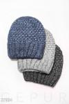 Вязаная шапка-бини