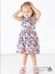 Платье детское Травка (кулирка)