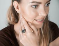 Кольцо из серебра Мальва Юмила
