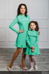 """Комплект платьев для мамы и дочки """"Рюши"""""""