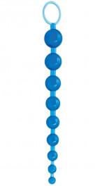Голубая анальная цепочка Sex Please! Sexy Beads Blue
