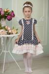 """Платье для девочки """"Горошек"""" (рост 128 см)"""