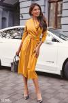Платье медового оттенка