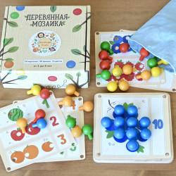 деревянная мозаика Изучаем счет - 5 карточек