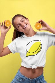"""Женская футболка """"Лимон"""" WTL-014 от Oldisen"""