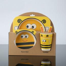 Набор детской посуды 5 шт. Пчелка