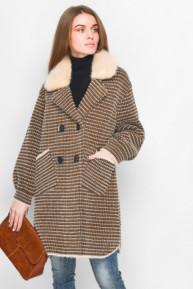 Вязаное пальто 31015