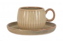 Чашка с блюдцем Comet (песочный) в инд.упаковке