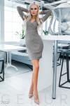 Приталенное платье с люрексом