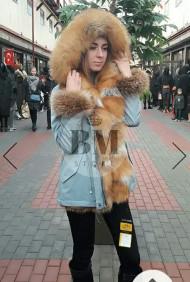 Зимняя парка с мехом лисы
