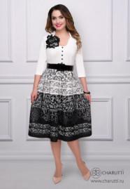Платье Барокко (айвори, с ремешком)