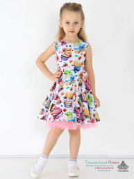 Платье детское Пироженка (кулирка с лайкрой)