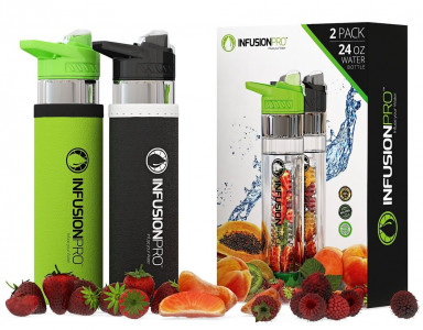 Infusion Pro Premium Fruit Infused Water Bottle 2 шт
