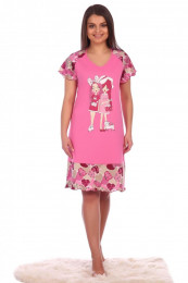 Сорочка Лючия (3086). Расцветка: розовая