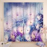 Фотошторы Нежные хризантемы
